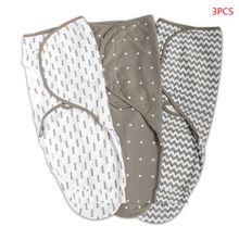 Newborn Baby Swaddle Blanket Adjustable Infant Wrap Towel Cotton Sleeping Bag