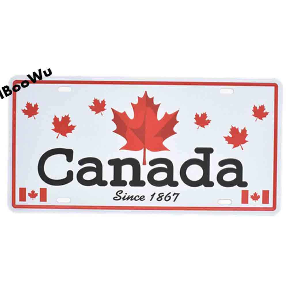 Worldwide شعبية مدينة لوحة ترخيص ملصق Vintage جدار ديكور كندا/لندن/البرازيل معدن القصدير تسجيل لويحات المشارك 15x30 سنتيمتر