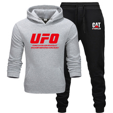U-F-O Mens Sets Hoodies + pants men Brand clothing Two-piece suit tracksuit Fashion Casual Gyms Workout Fitness sets
