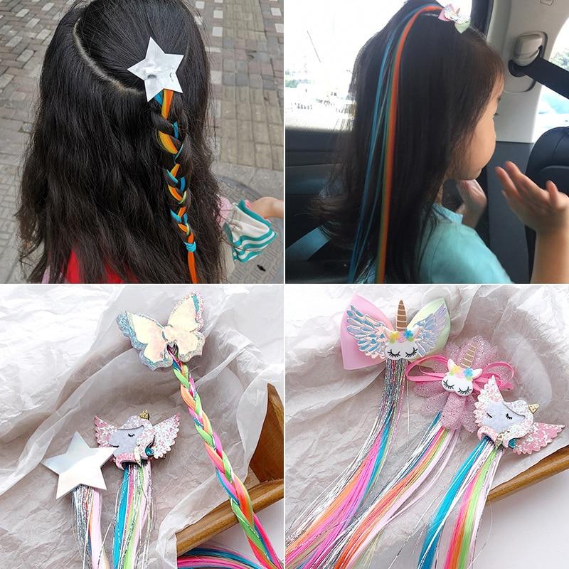 rainbow-color-butterfly-hair-pin-ribbon-star-bowknot-hair-clip-girls-hair-ties-ponytail-headwear-holder-kids-hair-accessories