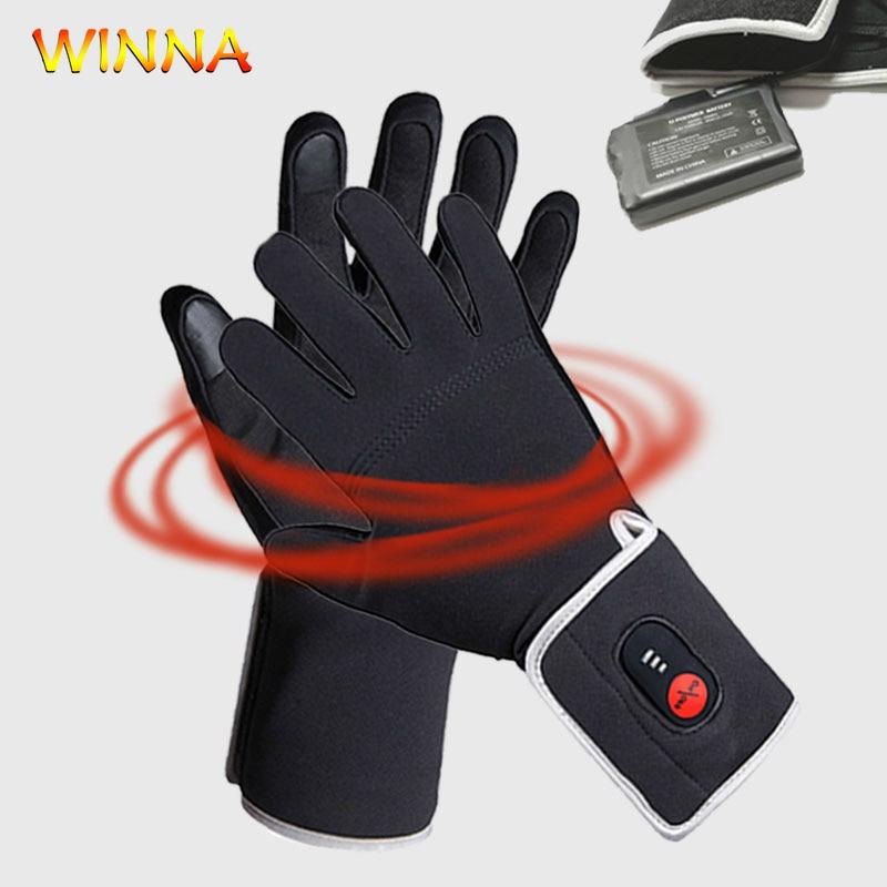 Velours doux imperméable gants chauffants hiver ski Snowboard cyclisme moto main plus chaude écran tactile gants pour hommes femmes