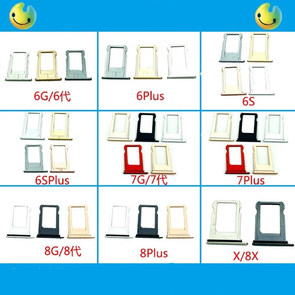 6 6plus <font><b>6s</b></font> 6sp 7 7p 8 8plus 8x Micro <font><b>Dual</b></font> <font><b>SIM</b></font> TF SD Card Holder Adapter Reader PCB Board Repair Inner Smartphone Part Original image