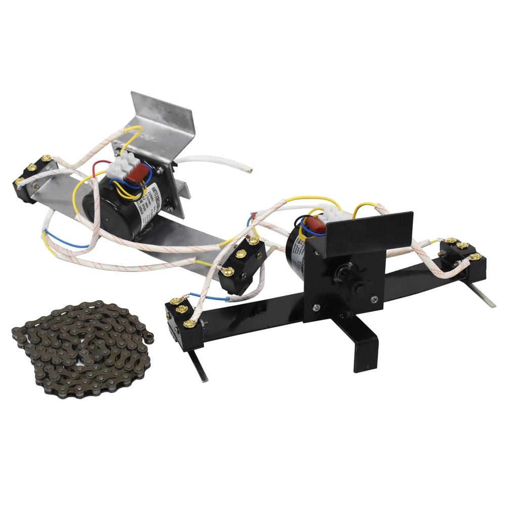 Incubadora de aves domésticas 220v motor com engrenagens automático egg turning system chain comprimento 100 cm chick incubadora acessórios