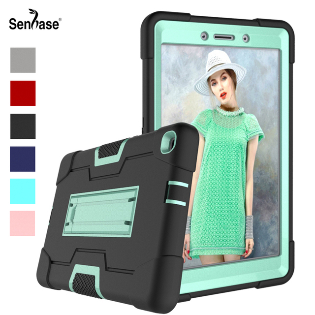 For Samsung Galaxy Tab A 8.0 2019 SM T290 SM T295 Tablet Case Shockproof Kids Safe PC Silicon Hybrid Stand Full Body Cover