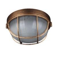 Vintage Outdoor Decke Lampe, Bronze Metall Glas Schutzhülle Hof Garten Decke Licht, Wasserdicht Retro Unterputz Licht