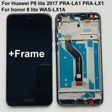 สำหรับHuawei P8 Lite 2017 PRA LA1 PRA LX1 PRA LX3/Honor 8 Lite WAS LX1AจอแสดงผลLCD Touch Screen DigitizerกรอบASSEMBLY