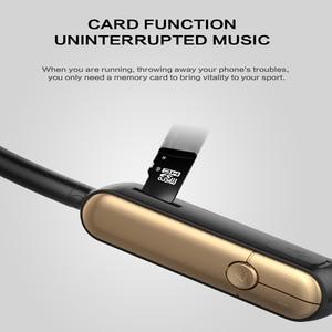 Image 3 - Sportowe słuchawki Bluetooth z pałąkiem na kark Bluetooth 5.0 podwójny sterownik Eerphone wsparcie karty SD Sweatproof słuchawki do biegania