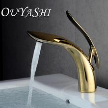 OUYASHI bathroom basin faucet deck mounted single handle single hole water tap cold and hot water недорого