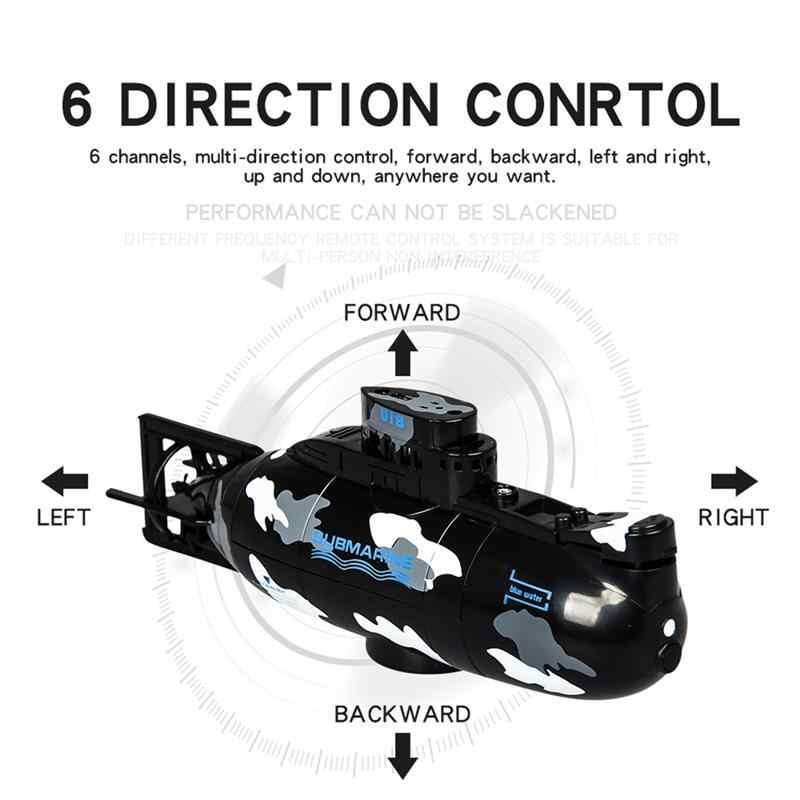 1Pc Mini submarino plástico Control remoto 3,7 V submarino a prueba de agua RC Mini Barco de juguete para niños regalo de cumpleaños juego al aire libre Juegos al aire libre