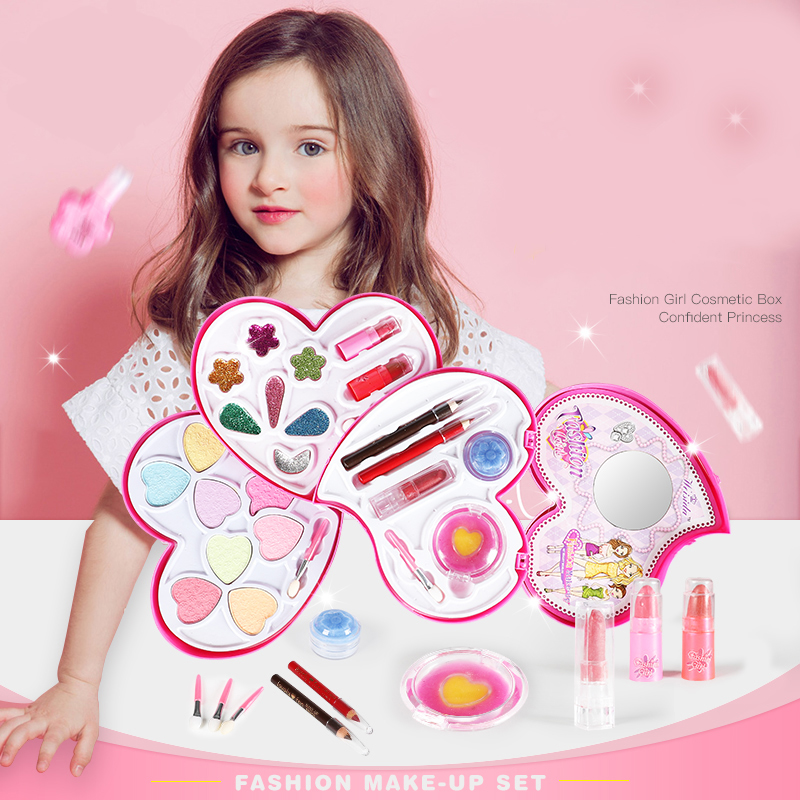 New Pretend Play Girls Fashion Kit Safe Non-toxic Toys Makeup Set Preschool Kids Beauty Safety Toy for Children Girl Makeup Gift