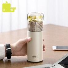 Botella de cristal de 360ML Infusor de té botella de cristal de acero inoxidable, infusión de té, termo portátil a prueba de fugas, té con filtro
