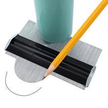 معدن الفولاذ المقاوم للصدأ الشخصي كفاف مقياس قالب بلاط التفاف صفح الشخصي الخشب حاكم أدوات قياس