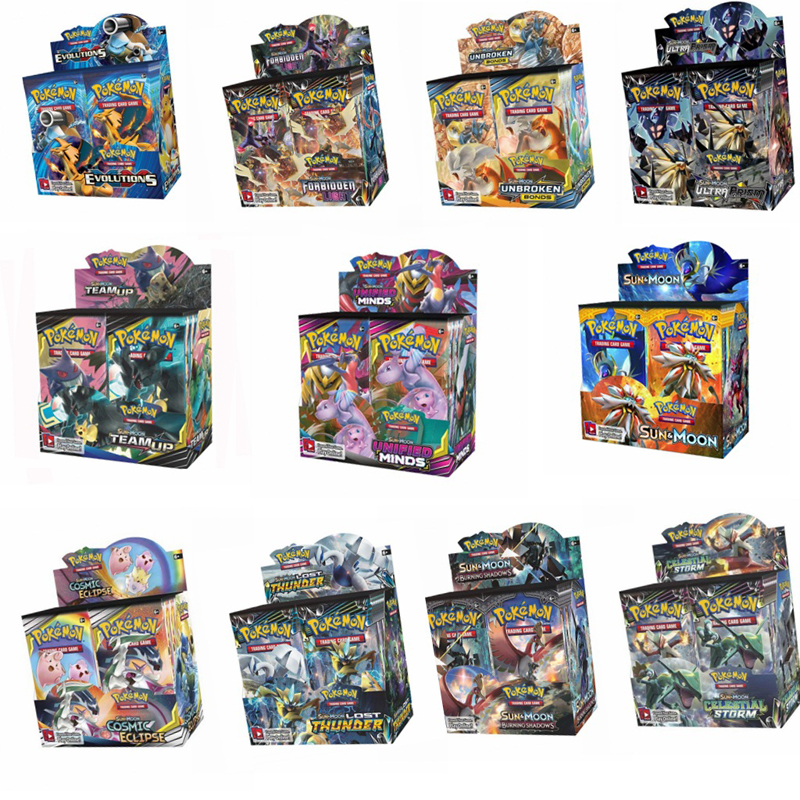 324PCS/SET Vmax Pokemon Cards TCG English Edition Card Pikamon Pokemon Lost Thunder Supplement Pack Kids Toy Gift