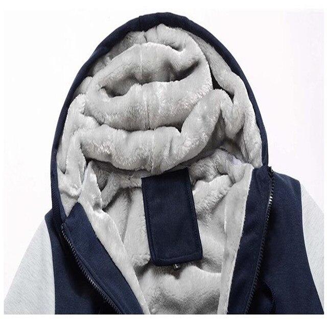 Men Winter Warm Thick Plus Velvet Hoodies 4