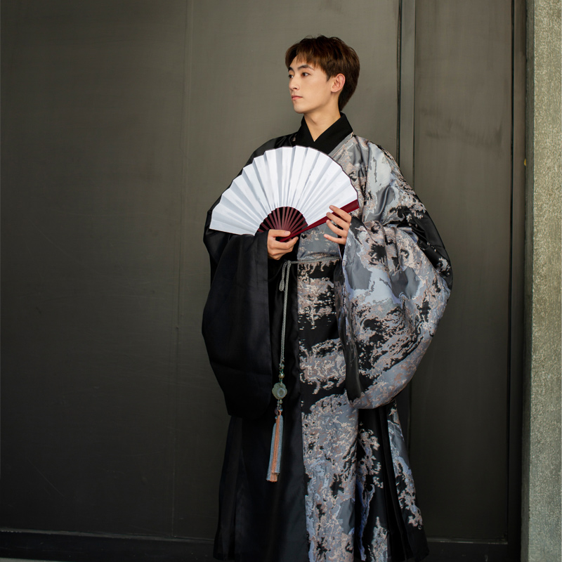 Exquisite Print Ancient China Cosplay Costume Men Hanfu Elegant Soft Chinese Clothing Cosplay Chinese Style Party Uniform Suit