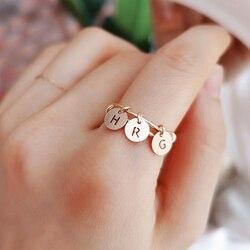 14K or rempli lettres anneaux Boho nom bijoux Anillos Mujer Bague Femme minimalisme Anelli Donna Aneis anneaux pour femmes