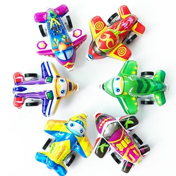 1pc New Boys Cute Cartoon Animals Model Mini Plane Game Toys Pull-back Style Educational Toys for Children Kids Toddlers Gift image