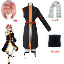 Anime fairy tail cosplay kostüm etherious natsu dragonil cosplay kostüme halloween karneval party schal perücke volle sets kostüme(China)