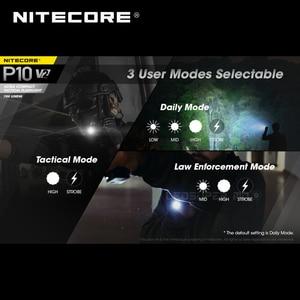 Image 5 - 2a generazione NITECORE P10 V2 CREE XP L2 V6 LED strobo pronto™Torcia tattica Ultra compatta da 1100 lumen