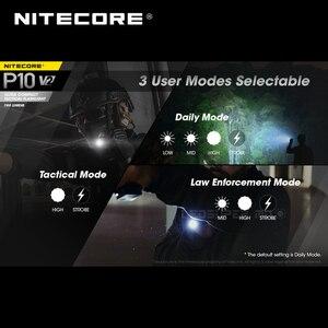 Image 5 - 2nd דור NITECORE P10 V2 CREE XP L2 V6 LED STROBE מוכן™אולטרה קומפקטי טקטי פנס 1100 Lumens