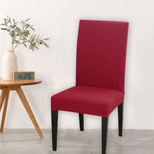 Chair-Cover Stretch Dining-Room Wedding Seat-Case Anti-Dirty Elastic Universal-Size Solid-Color