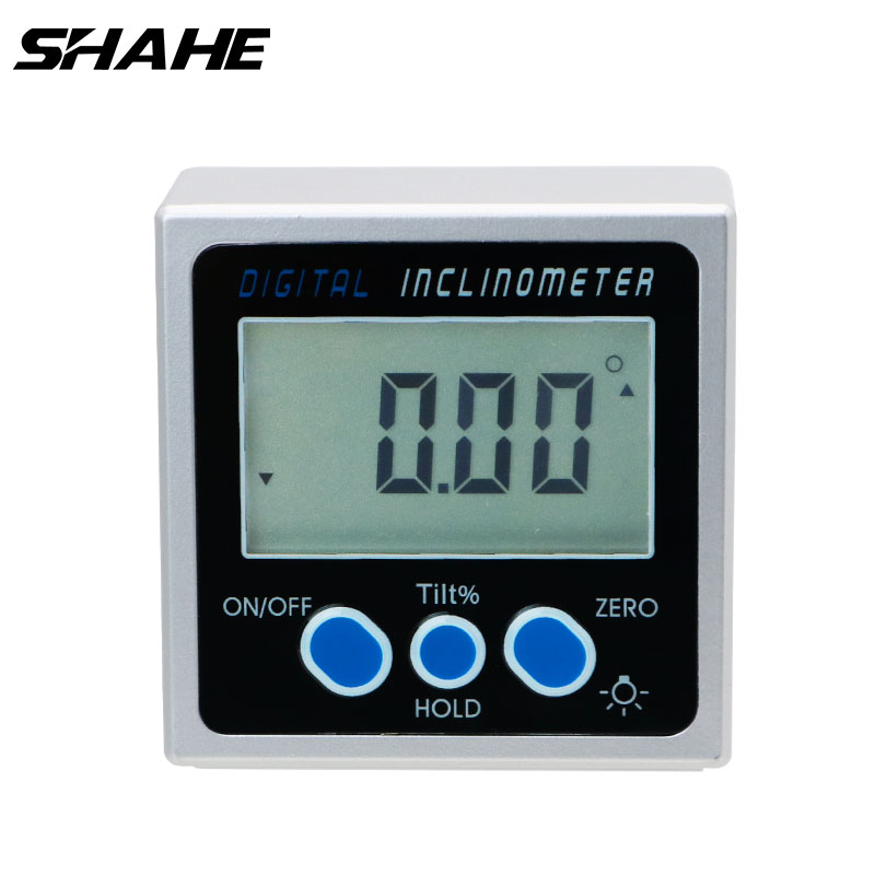 Digital Angle Cube Gauge Inclinometer Magnetic Base High Accuracy 0.05 Degree Ru