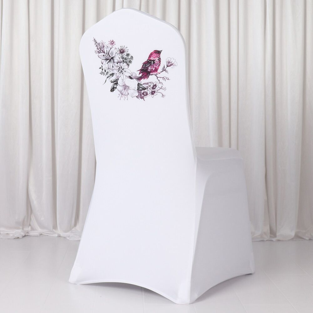 High Quality  Digital Spandex Lycra  Banquet Chair Cover 1