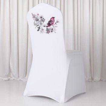 High Quality  Digital Spandex Lycra  Banquet Chair Cover 1