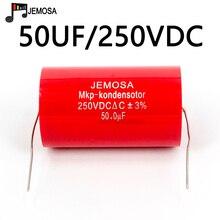 Audiophiler Axial MKP Capacitor 50UF 250V DC Coupling Divider HIFI Grade Audio Capacitor 50UF 250V For Tube Guitar Amplifier