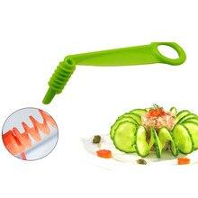 Manuel dilimleme yaratıcı Spiral kesici Twisted patates cipsi sebze oyma havuç vida dilimleme mutfak aksesuarları