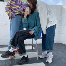 LEGIBLE 2021 Mom Jeans Woman High Waist Elastic Wide Leg Denim Blue Streetwear Baggy Jeans Boyfriend Femme Straight Pants Woman