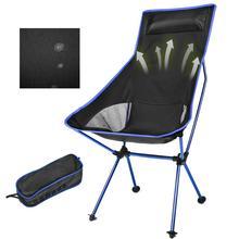 Portable pliable lune chaise pêche Camping barbecue tabouret pliant étendu randonnée siège jardin ultra léger bureau maison meubles