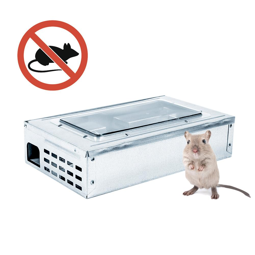 <font><b>Mouse</b></font> <font><b>Trap</b></font> Multifunctional Perspective Window Bait Box <font><b>Mouse</b></font> <font><b>Trap</b></font> <font><b>Cage</b></font> For Household Use Outdoor Garden Rat Killer image