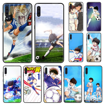 Anime Captain Tsubasa Phone case For Samsung Galaxy A 3 5 8 9 10 20 30 40 50 70 E S Plus 2016 2017 2018 2019 black pretty funda image