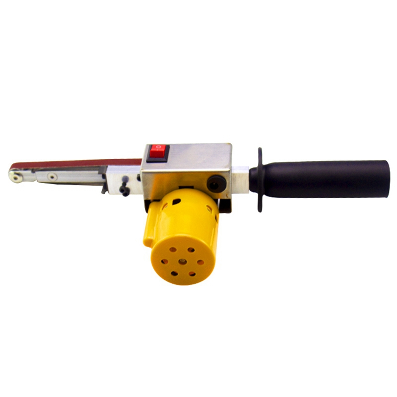 Handheld Electric Belt Sander Mini Sanding Machine Angle Grinder with Sanding Belt for Sanding Polishing Micro- Polishing Machin