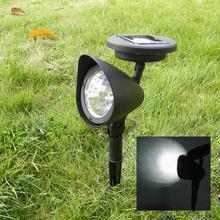 Уличный садовый 3 светодиодный солнечный точечный Ландшафтный Точечный светильник Светодиодный точечный светильник
