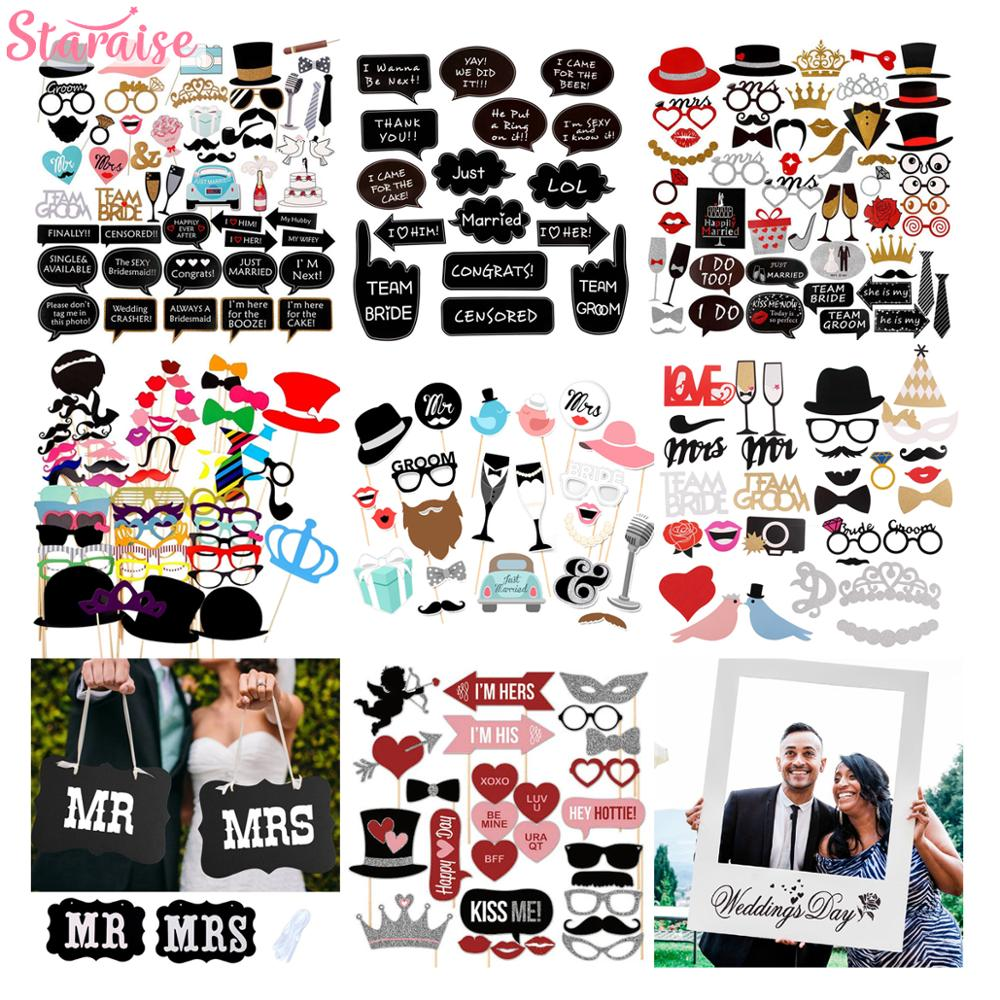 Wedding PhotoBooth Props Wedding Decoration Photobooth Props Event Party Decoration Bride To Be Photo Booth Props Just Married