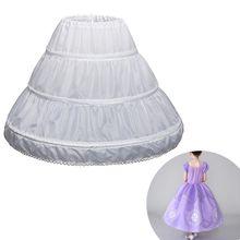 Dress Petticoat Crinoline Underskirt Flower-Girl White Children One-Layer 3-Hoops Half