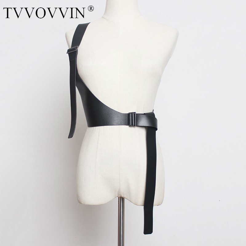 TVVOVVIN 2019 New Spring Summer Pu Leather Strap Belt Brief Irregular Personality Girdle Women Fashion Tide All-match D342