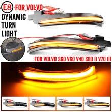 2x led sequencial dinâmico espelho lateral blinker luz turno lâmpada de sinal para volvo s60 cc s60 ii s80 ii v40 cc 40 ii v60 v60 cc v70