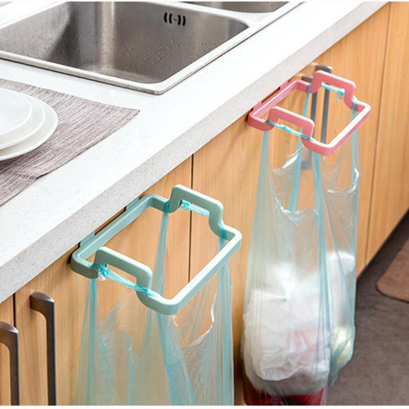 Portable Kitchen Trash Bag Holder Incognito Cabinets Cloth Rack Towel Rack Kitchen Door Back Portable Garbage Bag Bracket A30621