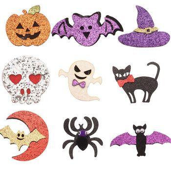 27 шт. аксессуары для волос для Хэллоуина для девочек, детские украшения для Хэллоуина, аксессуары для цветов для волос, заколка с бантиком, без заколки для волос