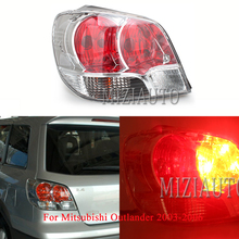 MIZIAUTO 1PCS Tail Lights Lamp For Mitsubishi Outlander 2003-2006 Warning Light Rear Bumper Stop taillights