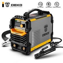 DEKO DKA серии инвертор постоянного тока дуговой сварки под флюсом 220V IGBT MMA сварочный аппарат 120/160/200/250 ампер для дома начинающих легкий эффективный