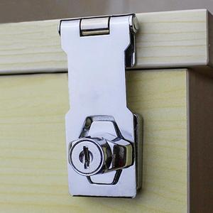 Stainless Steel Sliding Door Lock High Anticorrosive Bright Treatment Double Open Cabinet Lock Drawer Anti-theft Mailbox Locker
