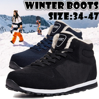 цена Men boots Men's Winter Shoes Fashion Snow Boots Shoes Plus Size Winter Sneakers Ankle Men Shoes Winter Boots Black Blue Footwear онлайн в 2017 году