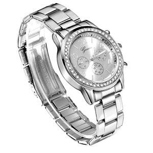 Image 3 - Yeni cenevre klasik lüks rhinestone İzle kadınlar saatler moda bayanlar kadınlar saat Reloj Mujer Relogio Feminino bayanlar izle