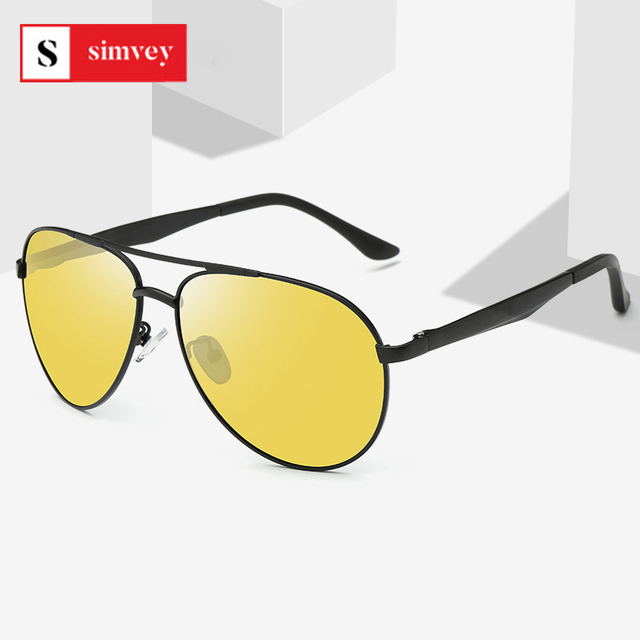 Classic Retro Polarized Night Driving Glasses for Women Men Oversized Anti Glare Night Vision Pilot Sunglasses U400 1