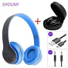 P47 – casques Bluetooth sans fil, oreillettes pliables, stop-bruit, casque Hifi stéréo avec micro, sac pour enfants, cadeau pour filles