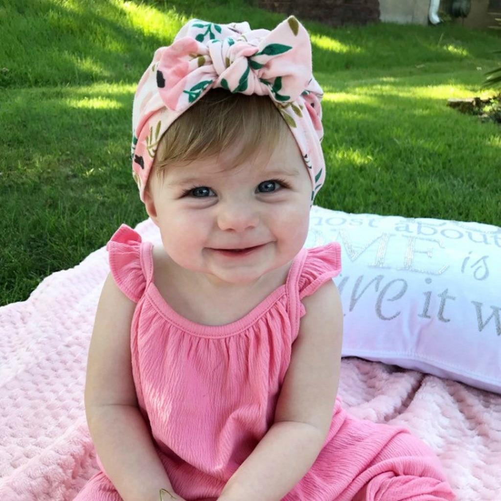 Newborn Baby GirlsBaby Soft Headband Floral Bowknot Cotton Headwrap Headwear